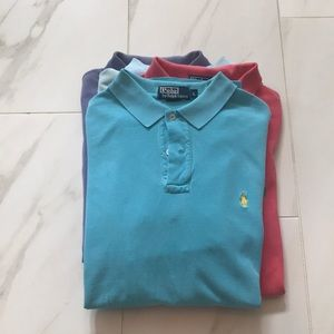 Polo by Ralph Lauren Men's Polo - Blue Large